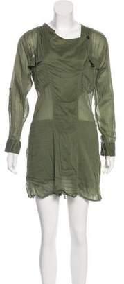 Etoile Isabel Marant Utility Long Sleeve Mini Dress