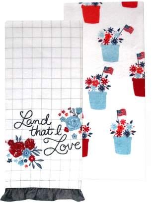 Americana Celebrate Together Land That I Love Kitchen Towel 2-pack