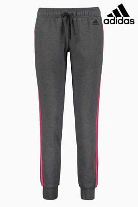 Next Womens adidas Dark Grey Essential 3 Stripe Jogger