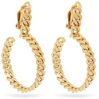 ORIT ELHANATI 24ct gold chain hoop earrings