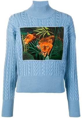 Kenzo jungle turtle neck sweater