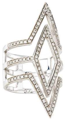 Anita Ko 18K Diamond Tri Point Ring