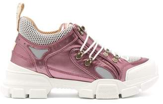 Gucci Flashtrek Leather Low Top Trainers - Womens - Pink