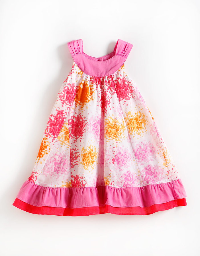 PENELOPE MACK Girls 2-6X Sleeveless Print Cotton Dress