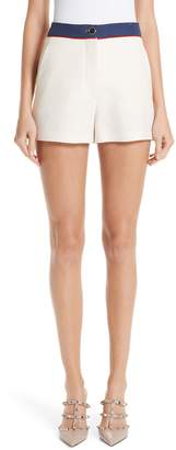Valentino Contrast Waist Crepe Shorts