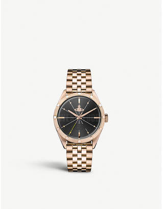 Vivienne Westwood VV192BKRS Conduit gold-toned stainless steel watch