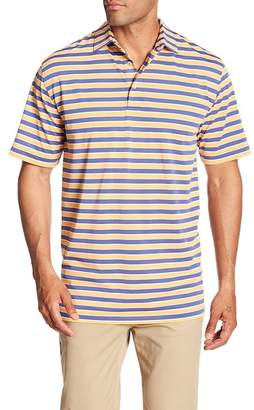 Peter Millar Croaker Stripe Stretch Mesh Polo