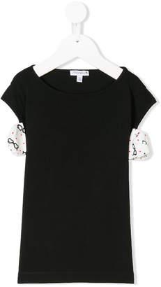 Simonetta side appliquées T-shirt
