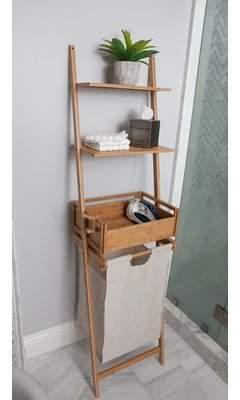 Laundry by Shelli Segal Best Living Inc Bamboo Shelf Laundry Basket