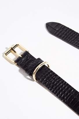 Jack Wills Mock Crock Leather Classic Belt
