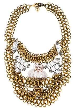 Lulu Frost Crystal & Enamel Collar Necklace