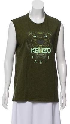 Kenzo Sleeveless Graphic Print Top