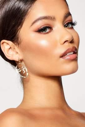 boohoo Face Profile Abstract Earrings