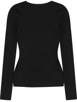 Open-back Stretch-jersey Top - Black
