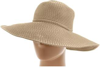 San Diego Hat Company RBL205 Ribbon Crusher Hat with Ticking Sun Hat Traditional Hats