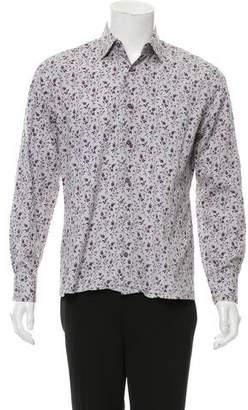 Paul Smith Striped Floral Print Shirt