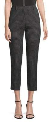 BOSS Tanitea1 Dot Dessin Straight-Leg Cropped Trousers