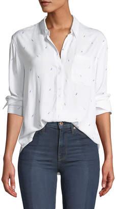 Rails Lightning-Bolts Long-Sleeve Button-Down Shirt
