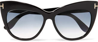 Tom Ford Nika Cat-eye Acetate Sunglasses - Black