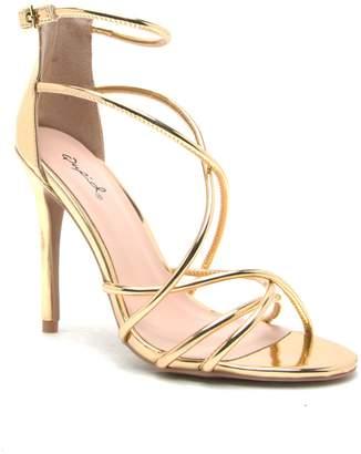 Qupid Ara cross strap sandal