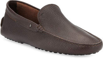 Tod's Pebbled Leather Driver, Brown