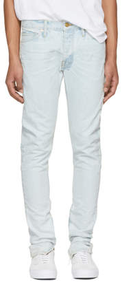 Fear Of God Blue Selvedge Zip Jeans
