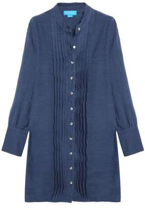 MiH Jeans Sunbeam Pintucked Linen And Cotton-Blend Shirt Dress