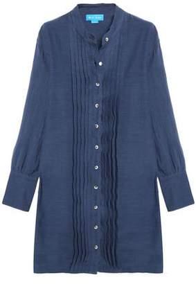 MiH Jeans Sunbeam Pintucked Linen And Cotton-Blend Shirt Dress