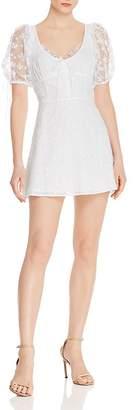 For Love & Lemons Felix Cotton Eyelet Lace Mini Dress