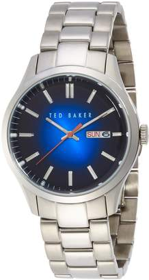 Ted Baker Men's 10023467 Dress Sport Analog Display Japanese Quartz Silver Watch