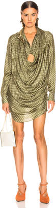 Jacquemus Saabi Dress in Green Polka Dots | FWRD