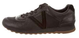 Louis Vuitton Round-Toe Low-Top Sneakers
