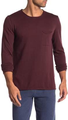 Knowledge Cotton Apparel Roll Edge Crew Neck Sweater
