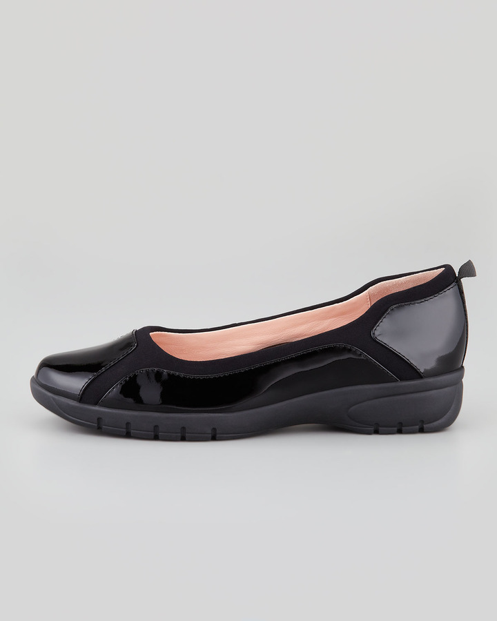 Taryn Rose Adin Patent Slip-On, Black