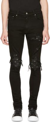 Amiri Black MX1 Bandana Jeans $1,050 thestylecure.com