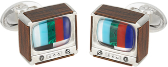 Jan Leslie Retro TV Cufflinks $695 thestylecure.com