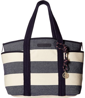 Tommy Hilfiger Dariana Rugby Stripe Tote $98 thestylecure.com