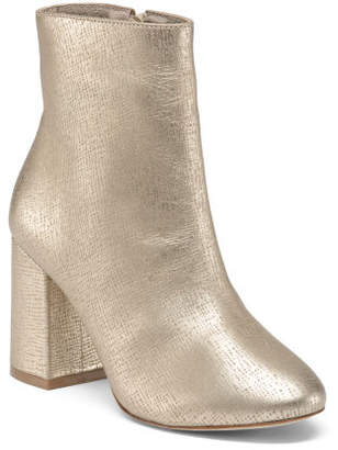 Made In Brazil Ankle Leather Booties
