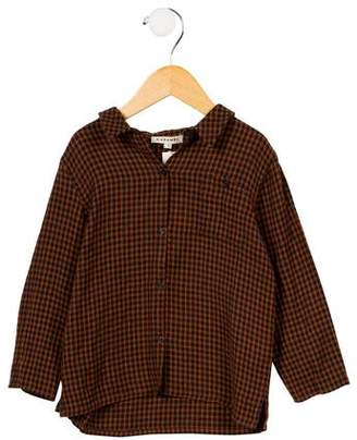 Caramel Baby & Child Boys' Dover Checkered Shirt w/ Tags