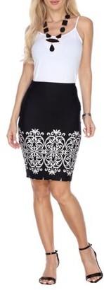 White Mark Women's Pretty & Proper Pencil Skirt