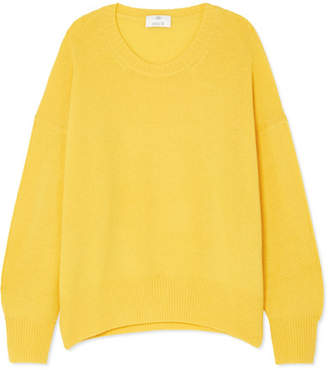 Allude Oversized Cashmere Sweater - Yellow