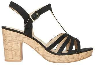 Dorothy Perkins Wide Fit Black Rebecca Wedge Sandals