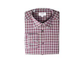 Eton Contemporary Fit Plaid Flannella Button Down Shirt