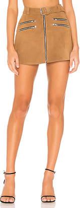 Understated Leather x REVOLVE Mini Zip Skirt