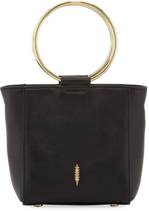 THACKER Le Bucket Mini Leather Ring-Handle Crossbody Bag
