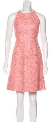 Lela Rose Metallic Tweed Dress