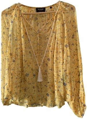 The Kooples Yellow Silk Top for Women