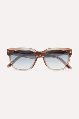 Tom Ford Rhett D-frame Acetate Sunglasses - Light brown