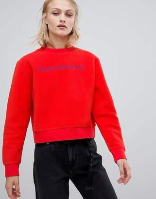 Calvin Klein Jeans fleece logo sweatshirt