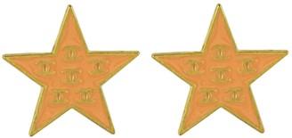 Chanel Vintage Orange Metal Earrings
